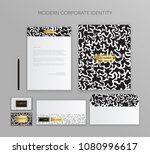 corporate identity business set.... | Shutterstock .eps vector #1080996617