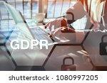 gdpr concept  general data... | Shutterstock . vector #1080997205