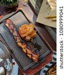 grill steak brunch   Shutterstock . vector #1080999041