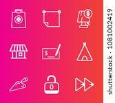 premium set with outline vector ... | Shutterstock .eps vector #1081002419