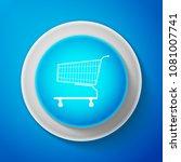 white shopping cart icon... | Shutterstock .eps vector #1081007741
