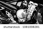 close up of a motorcycle engine ... | Shutterstock . vector #1081008281