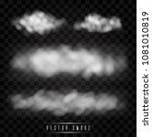 fog or smoke isolated... | Shutterstock .eps vector #1081010819
