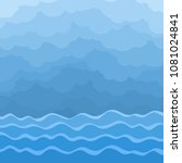 sea with clouds. | Shutterstock .eps vector #1081024841