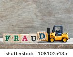 toy forklift hold letter block... | Shutterstock . vector #1081025435