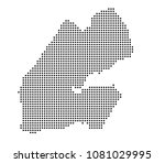 djibouti map vector. map dotted ... | Shutterstock .eps vector #1081029995