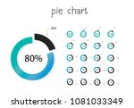 set of circle percentage flow... | Shutterstock .eps vector #1081033349
