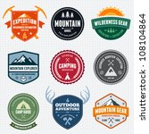 set of mountain adventure and... | Shutterstock .eps vector #108104864
