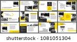 yellow element for slide... | Shutterstock .eps vector #1081051304