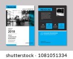 set of blue cover and layout...   Shutterstock .eps vector #1081051334