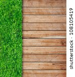 Wooden With Green Grass...