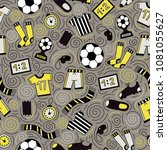 sports seamless pattern with... | Shutterstock .eps vector #1081055627