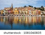 menton picturesque old town on... | Shutterstock . vector #1081060835
