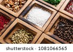 closeup of box with many... | Shutterstock . vector #1081066565