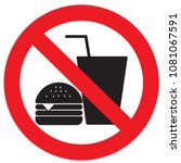 no eating or drinking logo | Shutterstock .eps vector #1081067591