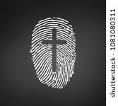 thumb prints or fingerprint... | Shutterstock .eps vector #1081080311