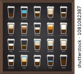 vector collection  cafe icons... | Shutterstock .eps vector #1081082387