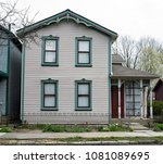 old urban neighborhood lavender ... | Shutterstock . vector #1081089695