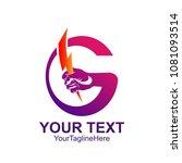 initial letter g logo template...   Shutterstock .eps vector #1081093514