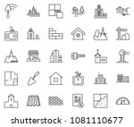 thin line icon set  ... | Shutterstock .eps vector #1081110677