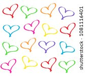 background of hearts | Shutterstock . vector #1081116401