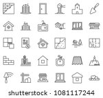 thin line icon set  ... | Shutterstock .eps vector #1081117244