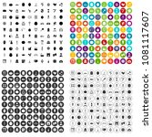 100 beauty product icons set... | Shutterstock .eps vector #1081117607