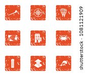 mysterious asia icons set.... | Shutterstock .eps vector #1081121909