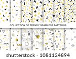 collection of swatches memphis... | Shutterstock .eps vector #1081124894
