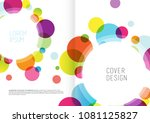 book cover design template with ... | Shutterstock .eps vector #1081125827