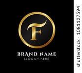 luxury letter f logo template... | Shutterstock .eps vector #1081127594