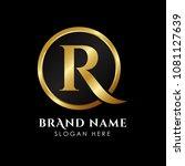 luxury letter r logo template... | Shutterstock .eps vector #1081127639