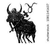 taurus horoscope astrology sign ... | Shutterstock . vector #1081141637