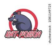 rat killer poison logo. vector... | Shutterstock .eps vector #1081149725