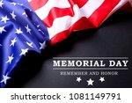 memorial day weekend text... | Shutterstock . vector #1081149791