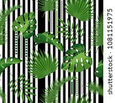 tropical seamless pattern with... | Shutterstock .eps vector #1081151975