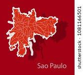 sao paulo  brazil  sticker map... | Shutterstock .eps vector #1081166501