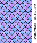 watercolor lilac scales of... | Shutterstock . vector #1081170845