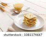 crackers with condensed milk... | Shutterstock . vector #1081174667