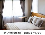 basic style of bed room in... | Shutterstock . vector #1081174799