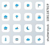 climate icons colored set with... | Shutterstock .eps vector #1081187819
