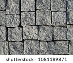 stone pavement texture  granite ... | Shutterstock . vector #1081189871