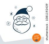 vintage style clip art   santa... | Shutterstock .eps vector #1081192439