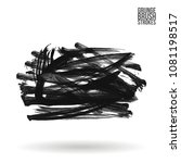 grey  brush stroke and texture. ...   Shutterstock .eps vector #1081198517