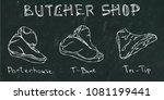 black chalk board background.... | Shutterstock .eps vector #1081199441
