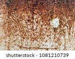texture of rusty brown old...   Shutterstock . vector #1081210739