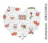 love heart shaped illustration. ...