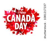 happy canada day poster. 1st... | Shutterstock .eps vector #1081217237
