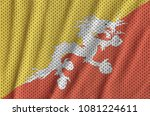 bhutan flag printed on a... | Shutterstock . vector #1081224611