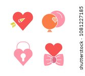 wedding and gift icons set | Shutterstock .eps vector #1081227185